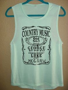 Hey, I found this really awesome Etsy listing at https://www.etsy.com/listing/187861497/country-music-names-muscle-tank-small