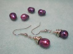 wire wrapped pearl earrings video tutorial