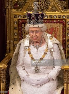 Britain's Queen Elizabeth II attends the State Opening of Parliament on May 2013 in London, England. Queen Elizabeth II unveiled the coalition government's legislative programme in a speech. Get premium, high resolution news photos at Getty Images Royal Jewels, Crown Jewels, Commonwealth, Imperial State Crown, Prince Charmant, Recycled Dress, Isabel Ii, Her Majesty The Queen, Elisabeth