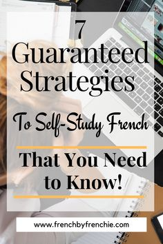 If you think that to self-study French is not possible, think again. With the tons and tons of resources, books and apps available, it is easy to do and totally achievable. Just taking into account a couple of things to learn French, or any language, faster, will help you to develop the skills necessary to achieve your language goals, fast. Repin this and read it. Learn French Free, How To Speak French, French Articles, French Tips, Spaced Repetition, French Flashcards, Study Apps, Memory Words, Study French