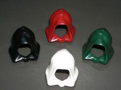 LEGO STAR WARS MINIFIGURE HOODS x4 Dark Red, Dark Green, White, Black #LEGO