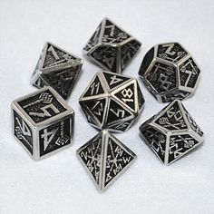 Metal Dwarven Dice (Set of 7) - RPG Tabletop Board Games