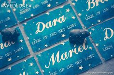WedLuxe: Starry Night style file #wedding #stationery