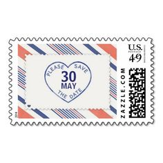 Vintage Themed Save The Date on a Heart Wedding Postage Stamp Custom Postage Stamps, Wedding Postage Stamps, Custom Stamps, Fun Wedding Invitations, Invites, Vintage Stamps, Self Inking Stamps, Save The Date