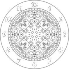 Clock face vector file for cnc V-bit carving (digital file). This file can be applied to any program CNC like Artcam and Vectric Aspire.
