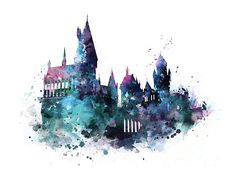 Harry Potter Poster, Harry Potter Château, Hery Potter, Harry Potter Artwork, Harry Potter Drawings, Harry Potter Pictures, Harry Potter Wallpaper, Harry Potter Tattoos, Music Poster