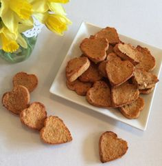 These tasty, healthy snacks are the perfect alternative to toast, crackers or biscuits. Harry thinks he's getting an unhealthy treat when I give him these. Sshhh don't tell him the truth!
