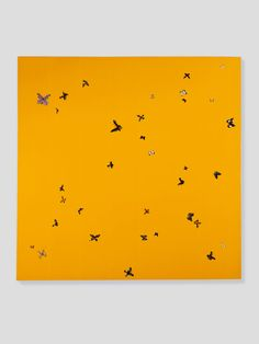 Damien Hirst  Brilliant Love  1994 - 1995  Butterflies and household gloss on canvas  2134 x 2134 mm | 84 x 84 in