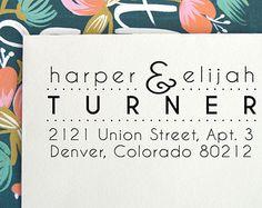 Self Inking Address Stamp Calligraphy Custom by FreshInkStamps