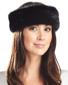 Luxury White Fur Headband Hat in Long Soft Faux Fur Handmade to Order