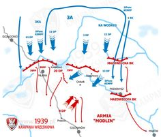 Bitwa pod Mławą 1939 - mapa