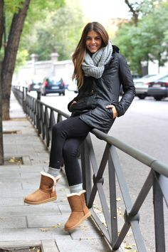 Daily wear leggings and uggs with a soft & warm, bulky scarf. Clothing that is Chic at Heart Photobucket