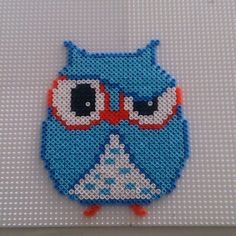 Owl hama perler beads by gablakkaa Owl Crochet Patterns, Fuse Bead Patterns, Perler Patterns, Beading Patterns, Owl Perler, 3d Perler Bead, Fuse Beads, Pearler Beads, Hama Disney