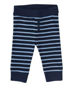 Look at this Navy & Blue Stripe Pants - Infant on #zulily today!