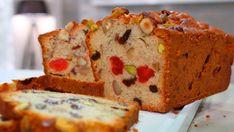 Bizcocho o Pudin inglés con frutas escarchadas y frutos secos, un dulce muy fácil de hacer.