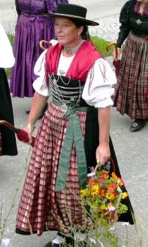 TRADITION:A woman in an   old-school German Dirndl   dress.Pic: dorena-wm