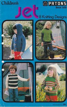 On Sale  Childrens Jet 8 Knitting Designs by jennylouvintage