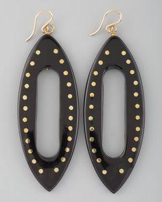 Kuacha Earrings, Dark Horn by Ashley Pittman at Bergdorf Goodman.