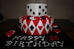 This casino cake would be so cool for danielle and brian's casino/red Casino Party Decorations, Casino Theme Parties, Party Themes, Party Ideas, Fète Casino, Casino Cakes, Nutrition Education, Oreo, Design Facebook