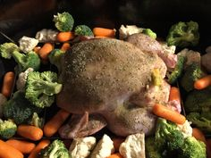 Citrus and Herb roast chicken with roasted veggies.