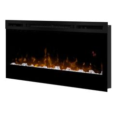 """Dimplex BLF3451 34"""" Wide 4,163 BTU 120 Volt Wall Mount Electric Fireplace with L,"""