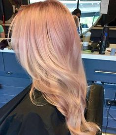 Layered rose gold hairstyle by Studio417
