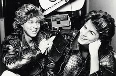 Russell Mulcahy and John Taylor on the Arena film set. How Music Video Pioneer Russell Mulcahy Killed the Radio Star