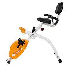 Under Desk Foldable Exercise Bike in Orange