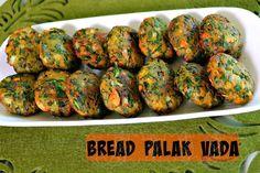 Bread Palak Vada - Quick Evening Snack Recipe