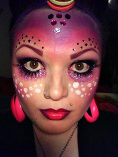 halloween face makeup   Du jeitinho da Cízz: Outubro 2011
