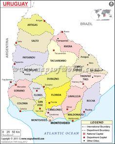 Uruguay Maps Maps Of Uruguay OnTheWorldMapcom Uruguay - Uruguay map atlas