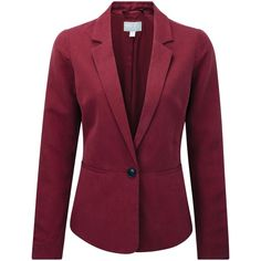Pure Collection Sophie Silk Fitted Jacket, Summer Claret (17420 RSD) ❤ liked on Polyvore featuring outerwear, jackets, summer jacket, shiny jacket, long sleeve jacket, silk jacket and lined jacket