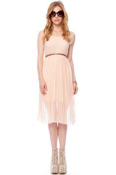Sugar Plum Tank Dress in Peach $65 at www.tobi.com, polyester, small-large