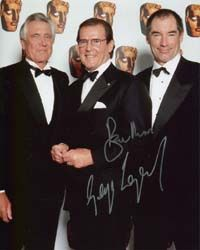 Timothy Dalton with George Lazenby and Roger Moore