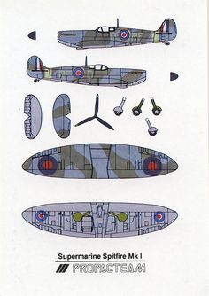 Submarine Spitfire Mk I - Cut Out Postcard | Flickr - Photo Sharing!
