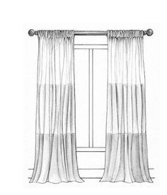 173 best Curtain Illustrations images on Pinterest in 2018