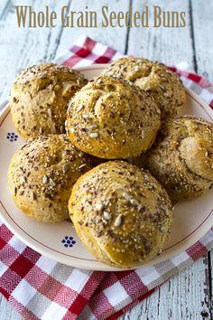 Italian Food Forever » Whole Grain Seeded Rolls