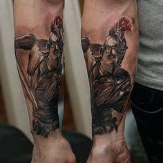 Gladiator tattoo done by Evegenii. #workproud #wearproud - Chronic Ink - Google+
