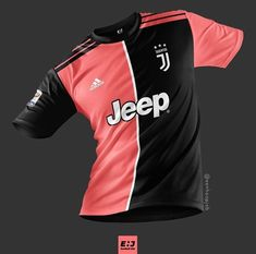 Soccer Jerseys, Football Shirts, Coral Pink, Motorcycle Jacket, Concept, Kit, Jackets, Black, Tops
