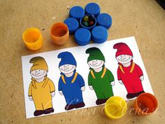 Homemade game with printable gnomes, in Russian can be translated