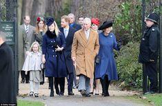 From left, Savannah Phillips, Autumn Phillips, Prince Harry, Prince Charles,  Princess Eug...