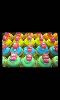Hungry Hungry Hippos Cupcakes