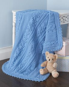 Lovey Knit Baby Blanket