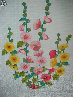 Applique Hollyhock Quilt Kit Pattern | eBay