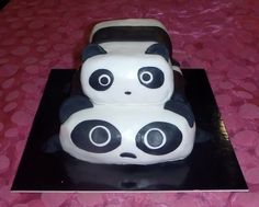Handmade birthday cake panda