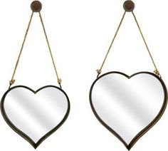 Special Offers - IMAX 87402-2 Heart Shape Wall Mirror Set of 2 For Sale - In stock & Free Shipping. You can save more money! Check It (January 11 2017 at 07:57PM) >> http://bathvanitiesusa.net/imax-87402-2-heart-shape-wall-mirror-set-of-2-for-sale/