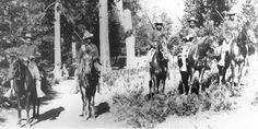 Buffalo Soldiers were among the first US Park Rangers. Above are members of the 24th Infantry at Yosemite in 1899.