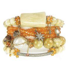Orange Wrap Stack. Bracelets, arm Candy, Nan Fusco, fine jewelry