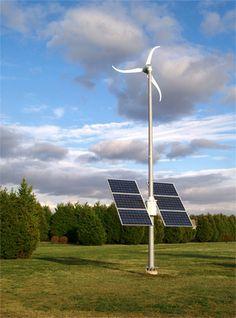 Sistema Híbrido Eólico + Solar Skystream Grid Tie | Energia Pura