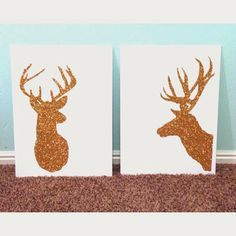 Glitter Reindeer DIY Christmas craft